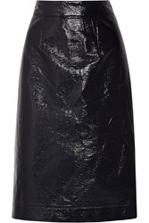 Tanya Taylor Marny Coated Cotton Blend Skirt Blue