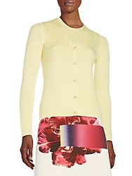 Carolina Herrera Cashmere And Silk Cardigan Pink