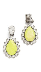 Venessa Arizaga Natural Mystic Clip On Earrings Yellow