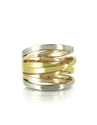 Michael Kors Yellow Rose Gold And Silver Eternity Ring