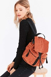 Urban Outfitters Peggy Corduroy Backpack Brown