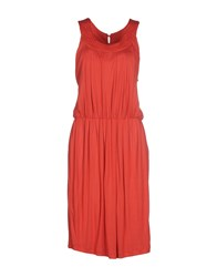 Guess Dresses Knee Length Dresses Women Red