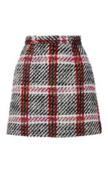 Carven Checked Mini Skirt Plaid