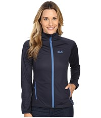 Jack Wolfskin Crosswind Jacket Night Blue Women's Coat Navy
