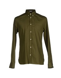 Galliano Shirts Shirts Men Light Green