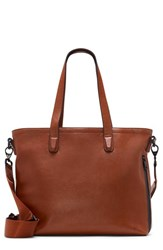Vince Camuto Men's Tolve Leather Tote Bag Brown Luggage