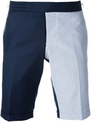Thom Browne Panelled Tailored Shorts Blue