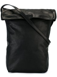 Ann Demeulemeester Flap Front Crossbody Bag Black