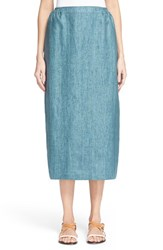 Women's Eskandar Surface Print Linen Skirt