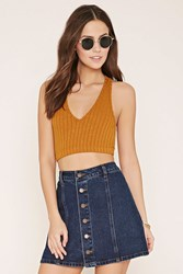 Forever 21 Marled Crop Top