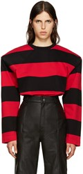Vetements Black And Red Football Shoulder T Shirt