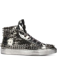 Philipp Plein 'High' Hi Top Sneakers Grey