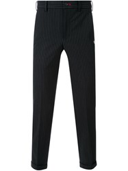 Loveless Pinstripe Trousers Black