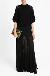 Elie Saab Women S Lace Batwing Top Boutique1 Black