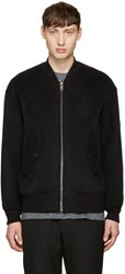 Alexander Wang Black Patches Bomber Jacket