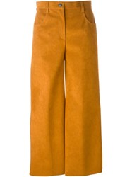 Msgm Faux Suede Culottes Brown