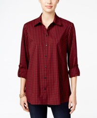 Styleandco. Style Co. Plaid Roll Tab Shirt Only At Macy's Buffalo Plaid