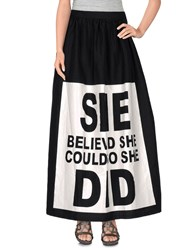 Odi Et Amo Skirts Long Skirts Women Black