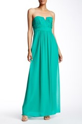 Ted Baker Alessa Strapless Silk Dress Green