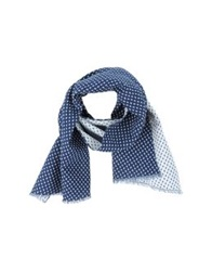 People Oblong Scarves Dark Blue