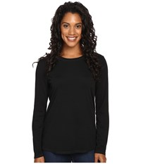 Royal Robbins Go Everywhere Merino Crew Jet Black Women's Long Sleeve Pullover