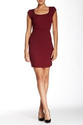 French Connection Georgia Short Sleeve Scoop Neck Dress Red