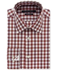 Sean John Men's Classic Fit Cinnamon Check Pattern Dress Shirt