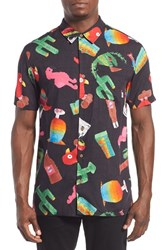 Men's Vans 'Santa Ana' Trim Fit Short Sleeve Print Woven Shirt