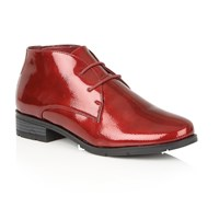 Lotus Emelia Lace Up Ankle Boots Red