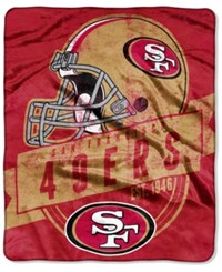 Northwest Company San Francisco 49Ers Micro Raschel 12Th Man Throw Blanket Red
