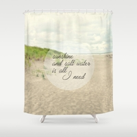 Sunshine And Salt Water Shower Curtain By Sylvia Cook Photography Society6
