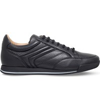 Ermenegildo Zegna Milano Leather Trainers Black