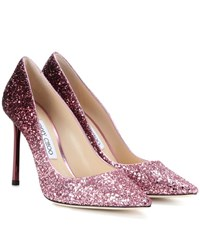 Jimmy Choo Romy 100 Glitter Pumps Pink