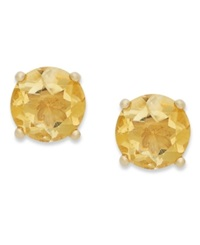 Victoria Townsend 18K Gold Over Sterling Sterling Earrings November's Birthstone Citrine Stud Earrings 1 3 8 Ct. T.W. None