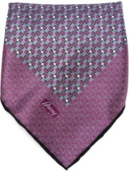 Brioni Geometric Print Handkerchief Pink And Purple
