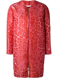 Moncler Gamme Rouge 'Eglantine' Puffer Coat Red