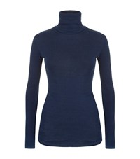 Ag Jeans The Octa Turtleneck T Shirt Female Navy