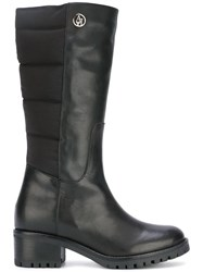 Armani Jeans Padded Detail Boots Black