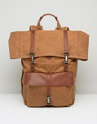 Timberland Waxed Canvas Backpack Brown