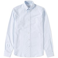 Ami Alexandre Mattiussi Button Down Oxford Shirt Blue