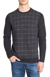 Men's Ben Sherman Grid Wool Crewneck Sweater