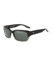 Barton Perreira Dutchie Square Ombre Plastic Sunglasses Gray