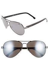 Lacoste 62Mm Aviator Sunglasses Gunmetal Grey