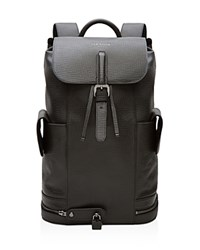 Ted Baker Avalon Textured Leather Lock Backpack Black