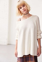 Bdg Cloud Stitch Wide Neck Sweater Ivory