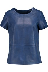 Muubaa Leather Top Blue