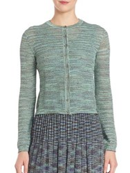 M Missoni Plisse Knit Cardigan Gold Teal