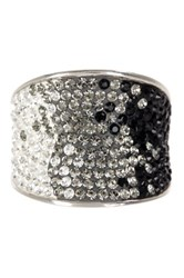 Candela Sterling Silver Pave Ombre Crystal Ring Multi