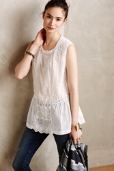 Burning Torch Blanche Peplum Blouse White