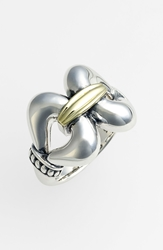 Lagos 'Derby' Large Buckle Ring Silver Gold